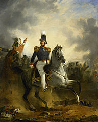 Lieutenant-General Frederik Knotzer in the Battle of Houthalen, during the 10 Days' Campaign, 1831