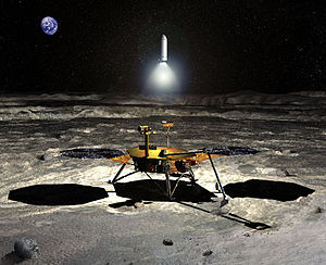 New Frontiers program - Concept art for a New Frontiers class lunar sample return mission