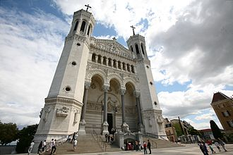 Basilica of Notre-Dame de Fourvière - The main entry to the basilica