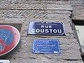 Lyon 1er - Rue Coustou - Plaque avec souvenir trans 1 (fév 2019).jpg
