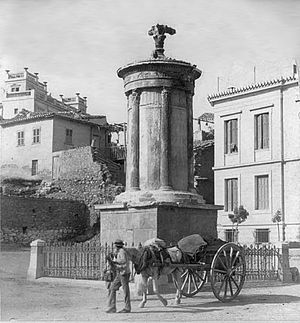 Choragic Monument of Lysicrates - View of 1900