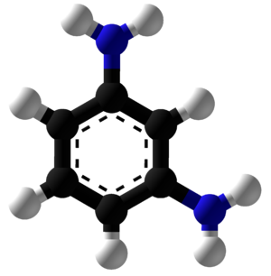 M-Phenylenediamine - Image: M Phenylenediamine Ball and Stick