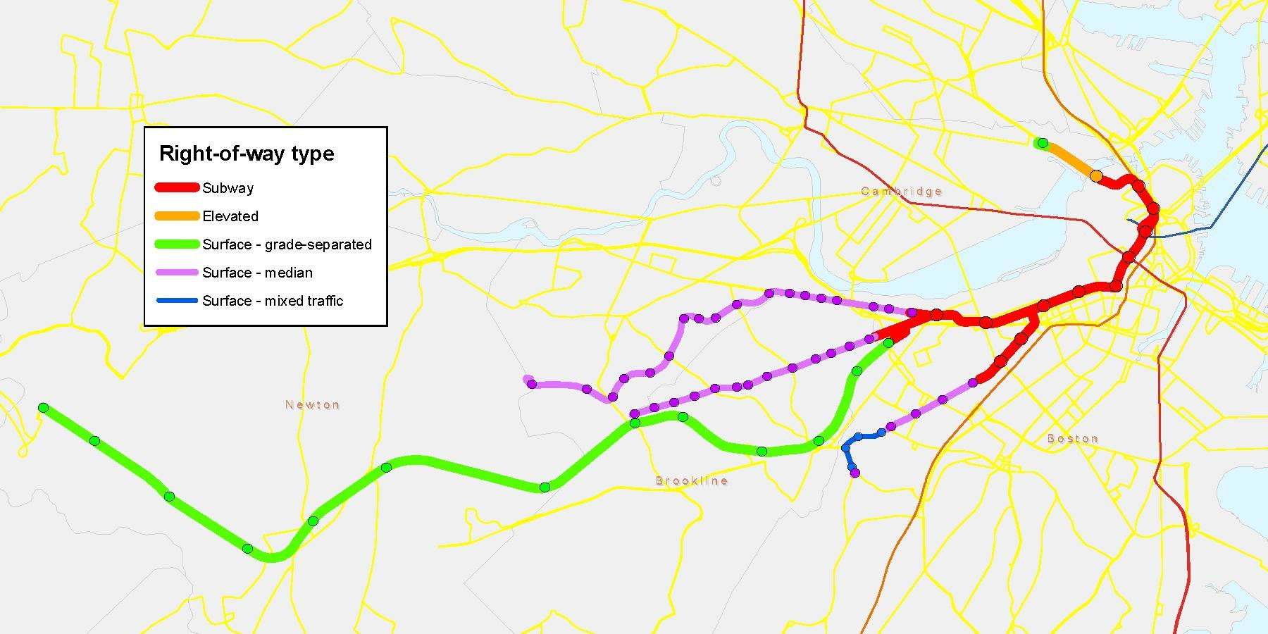 File:MBTA Green Line physical characteristics map.pdf - Wikimedia ...