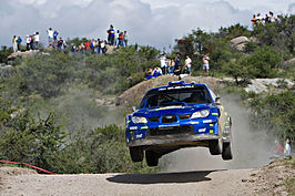 Chris Atkinson tijdens de rally in 2008