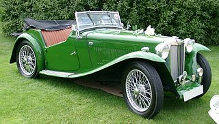 MG T-type car model