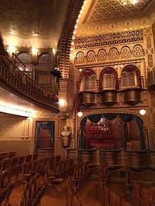 Inside of the Mabel Tainter Theater.
