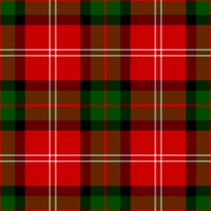 Clan Mackintosh - Makyntosche tartan, as published in 1842 in Vestiarium Scoticum.