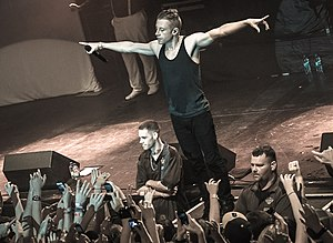 Macklemore - Macklemore performing at The Heist Tour, in 2012