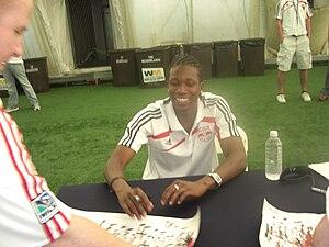 Macoumba Kandji - Macoumba Kandji signing autographs during his time with the Red Bulls.