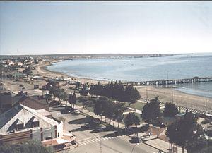 Biedma Department - Northern shoreline of Puerto Madryn.