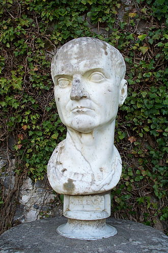 Gaius Maecenas - Bust of Maecenas at Coole Park, Co. Galway, Ireland