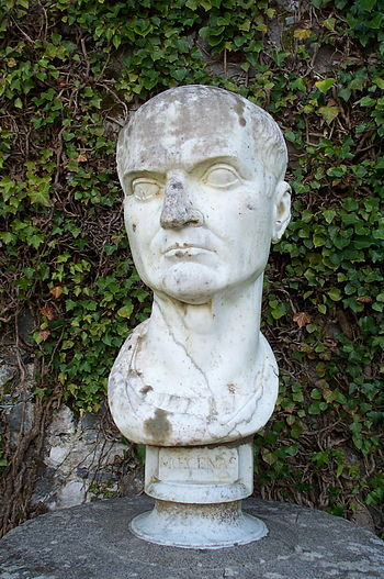 English: bust of Maecenas (Roman statesman, wr...