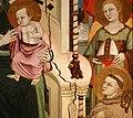 Maestro di Figline, maestà tra i ss. elisabetta d'ungheria, ludovico di tolosa e angeli, post 1317, 08.jpg