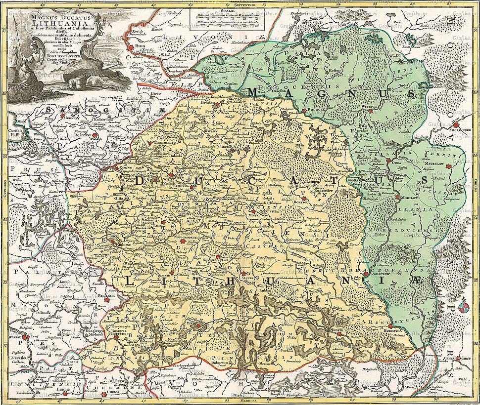 Magnus ducatus Lithuania, 1780