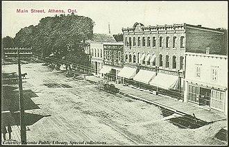 Athens, Ontario - Image: Main Street, Athens, Ontario, Canada (1910)