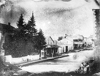 Newmarket, Ontario - Main Street in 1856