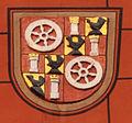 Mainz St Quintin Turm Wappen Henneberg 03.jpg
