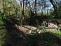 Malá Chuchle, potok a náhon rybníčku.jpg