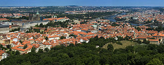 Malá Strana - View of Malá Strana from the Petřín hill.