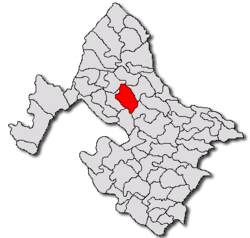 Location in Mehedinţi County