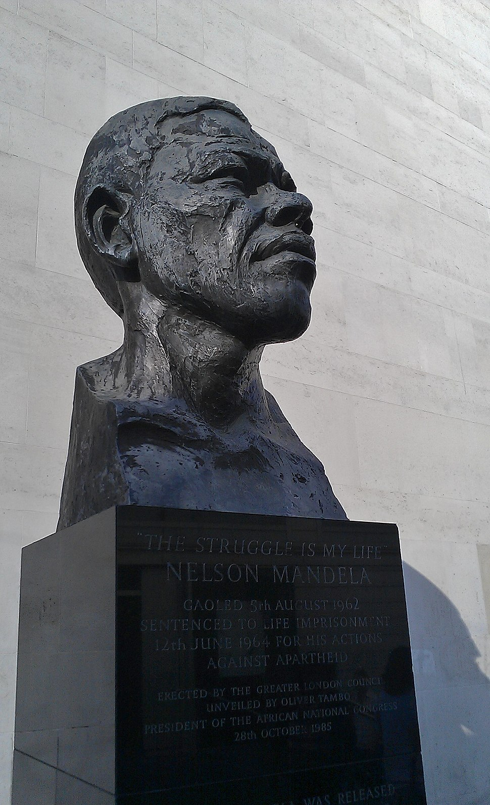 Mandela Bust at Southbank