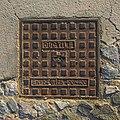Manhole cover in Santorini Akrotiri 40x40.jpg