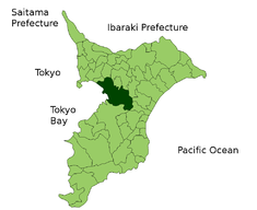 Location of Chiba City