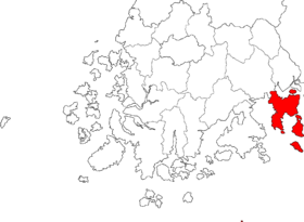 Location of Yeosu
