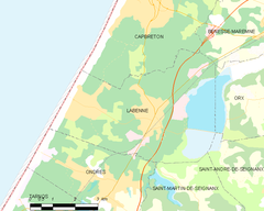 Map commune FR insee code 40133.png