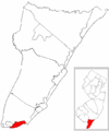 Map of Cape May County highlighting Cape May City.png