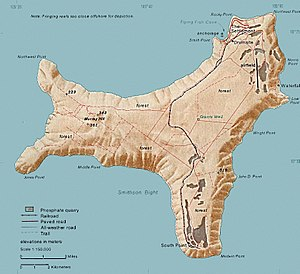 Map of Christmas Island 1976