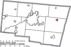 Location of South Vienna in Clark County