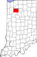 Map of Indiana highlighting Pulaski County.svg