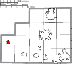 Location of Spencer in Medina County