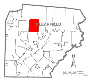 Pine Township, Clearfield County, Pennsylvania - Image: Map of Pine Township, Clearfield County, Pennsylvania Highlighted