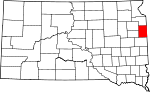 State map highlighting Deuel County
