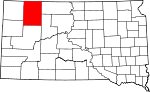 State map highlighting Perkins County