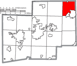 Location of Lexington Township in Stark County