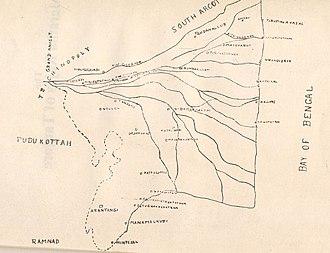 Thanjavur Maratha kingdom - Map of Tanjore