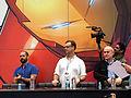Marco Ramirez, Doug Petrie, Jeph Loeb Daredevil Signing NYCC 2015.jpg