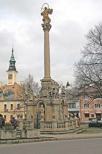 Žamberk - Image: Mariánský sloup v Žamberku