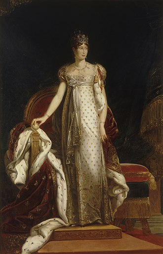 Napoleon Diamond Necklace - Marie Louise, Duchess of Parma wearing the Napoleon Diamond Necklace and the Marie Louise Diadem