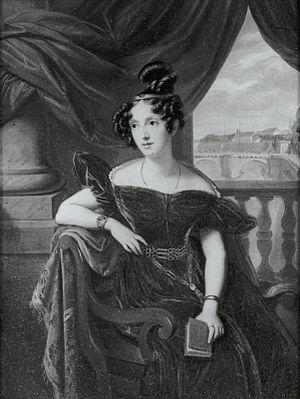 Princess Maria Luisa Carlota of Parma - Portrait by Antonio María Esquivel (c. 1834)