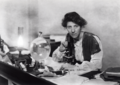 Marie Stopes in her laboratory, 1904 - Restoration.png