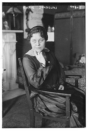 Marie Sundelius - Sundelius in 1916