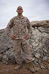 Marine leaves 'no rock unturned' creating deployment art 131124-M-ZB219-026.jpg