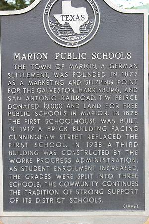 Marion, Texas - Texas historical marker