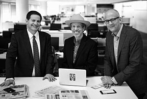 Mark McKinnon - Mark Halperin, McKinnon, and John Heilemann of the Showtime series The Circus