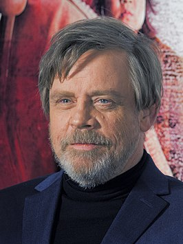 Mark Hamill tijdens de Japanse première van Star Wars: The Last Jedi in december 2017.