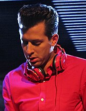 Mark Ronson with headphones.